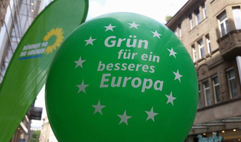 Grün für ein besseres Europa-Luftballon
